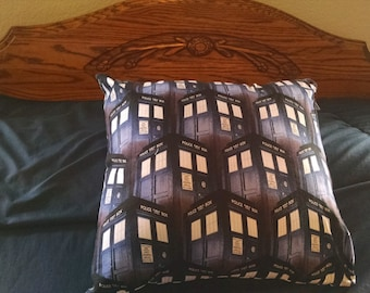 Dr Who Tardis Pillow