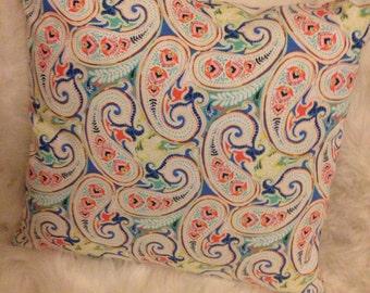 Bright Paisley Decorative Pillow