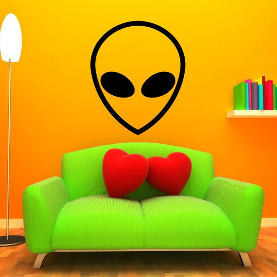 Alien wall decal large outer space mural sticker for Outer space vinyl wall decals