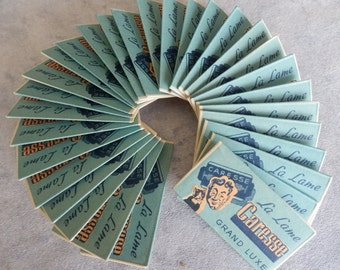 French razor blades CARESSE. Box of 30 blades 1950s