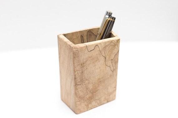 Pencil Holder Wood Pen Holder Pen Pot Desk Accessory Desk