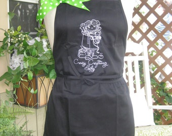 Embroidered Adult Apron