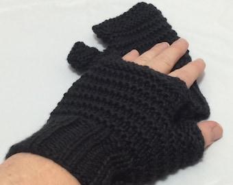 Fingerless driving gloves black #1017