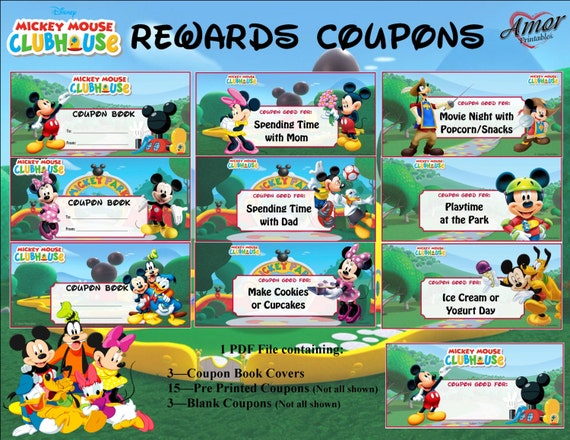 Mickey Mouse Rewards Coupons