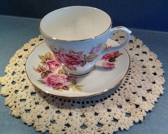 Duchess NEW Vintage Tea Cup Set Double Pink Rose