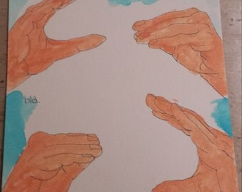 Personalized Drawing of ASL Hands (Realistic Coloring)