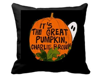 It's the Great Pumpkin Charlie Brown/Halloween Pillow Cover/Halloween Decor