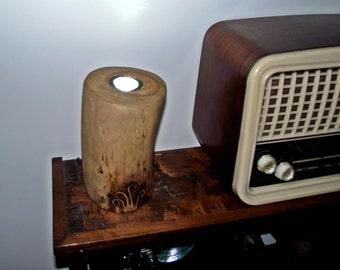 Lampara tronco de madera, wooden lamp, lampara hecha a mano,Handmade lamp,lampara de luz ambiente,ambient light lamp