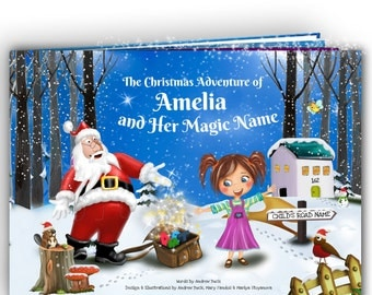 Personalized Childrens Christmas Story Book - Handmade - A Unique and Magical Story for Every Name - Xmas Gift for Kids