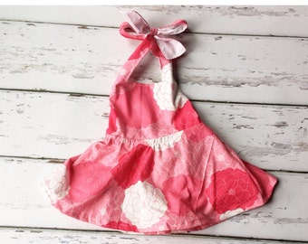 Toddler Pink Floral Sundress, baby sundress, toddler girl dress