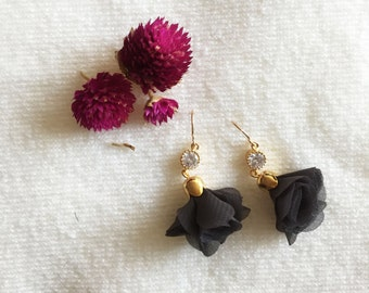Ruffle Flower Earrings