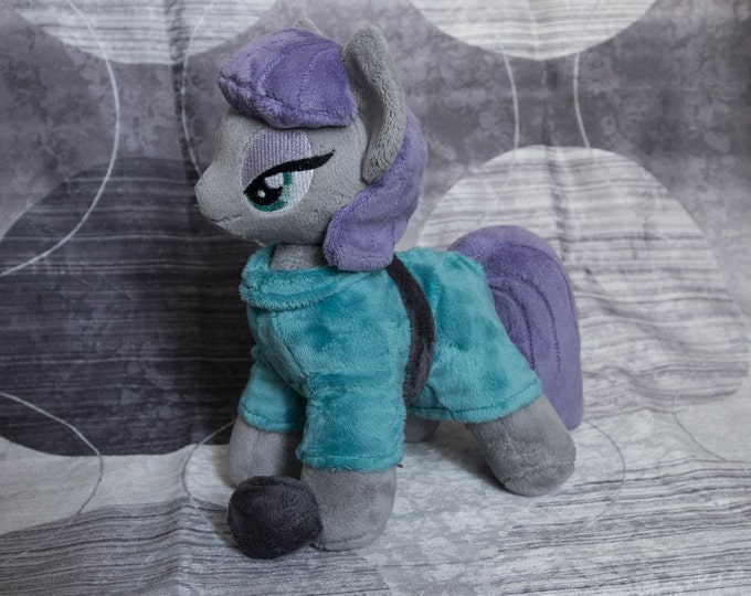 Plush Maud Pie with Boulder Custom Pony 10 inches My Little Pony Toy