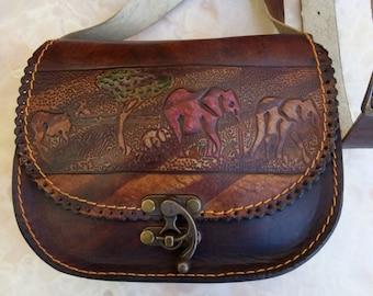 Leather handmade bag. crossbody bag. shoulder bag