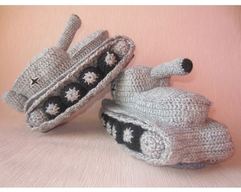 Knitting Pattern For Army Tank Slippers : Army tank slippers Etsy