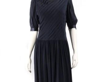 Albert Nipon navy vintage dress navy blue size 12