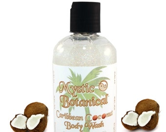 Caribbean Coconut Body Wash, Coconut Soap, Coconut Lather, Natural Soap, Tropical Scented Soap, Soothing Body Soap