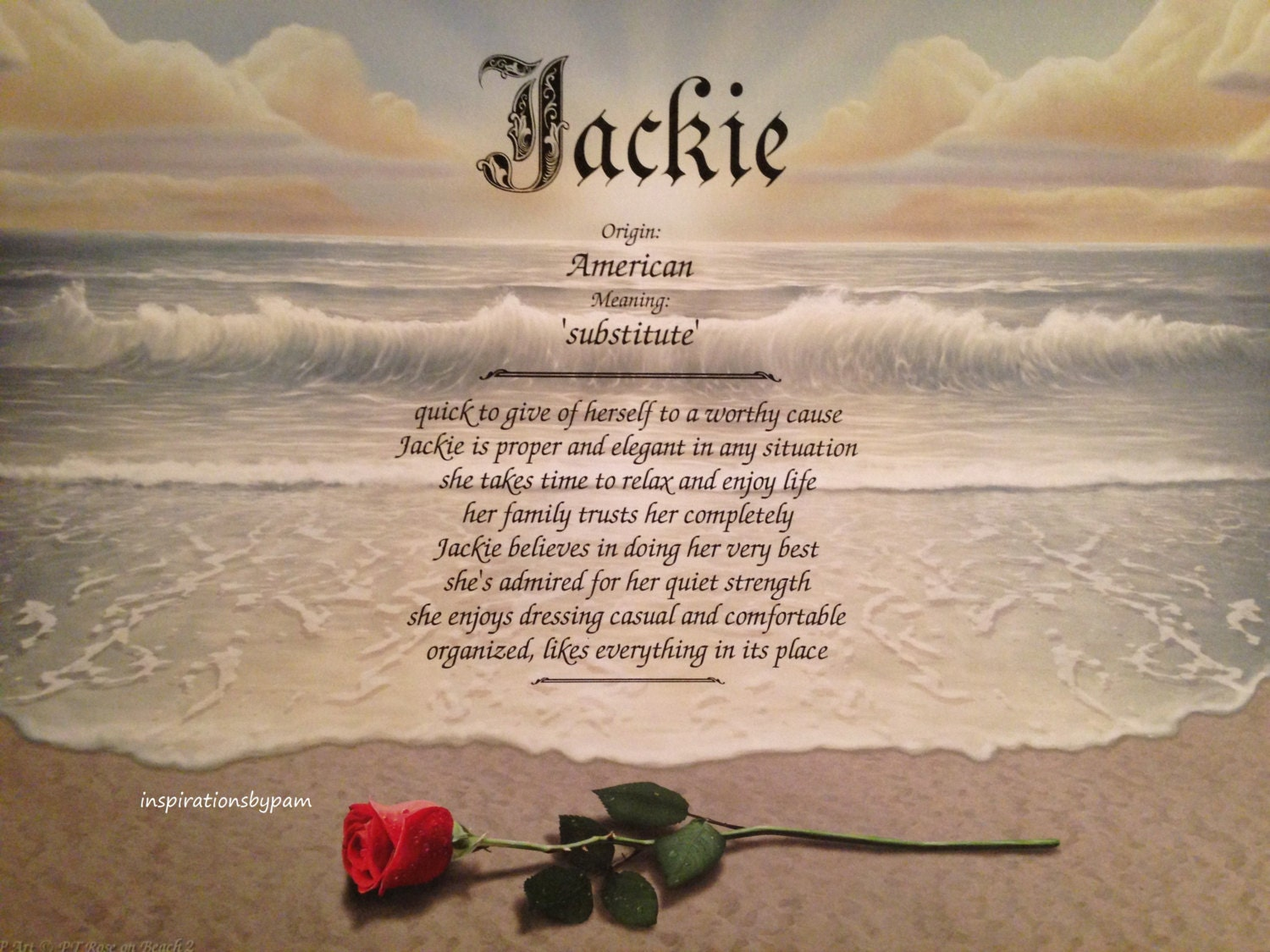 Jackie First Name Meaning Art Print-Name Meaning - photo#19