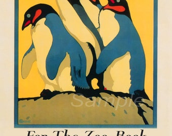 Vintage London Zoo 1921 Transport Poster Print