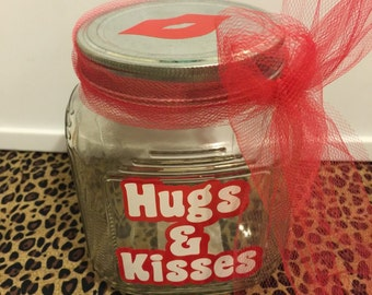 Valentine's Day Hugs & Kisses Jar