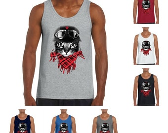 Biker Cat Men's Tank top