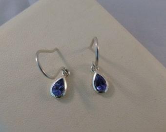 Tanzanite 925 silver earrings