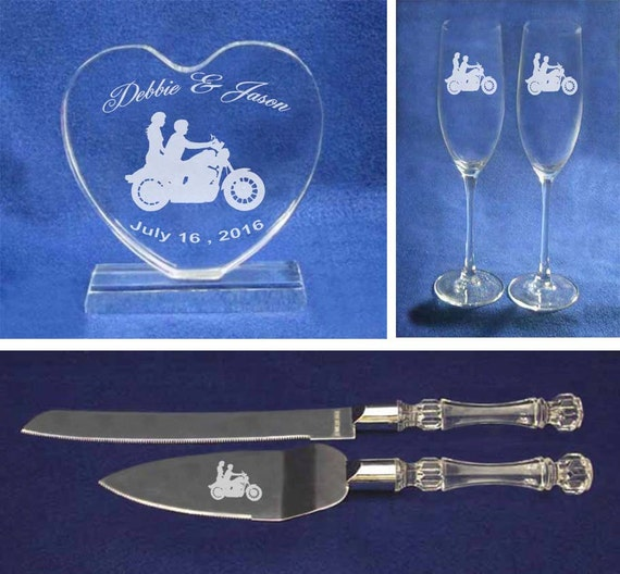 motorcycle wedding cake knife biker wedding motorcycle wedding cake topper glasses and 17611