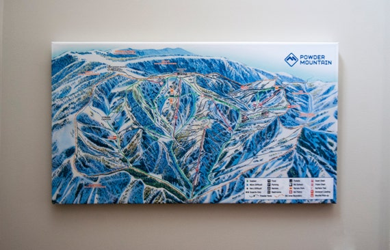 Powder Mountain Ski Map Gallery Wrapped Canvas Giclee