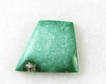 Natural Variscite cabochon / Designer freeform cut / Green with subtle matrix / 21.75 X 18.5 mm, 4 mm (cab116)