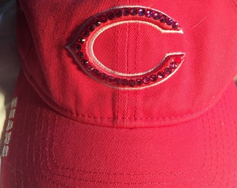 Chicago Bears Hot Pink Breast Cancer Awareness Swarovski Crystallized Baseball Cap