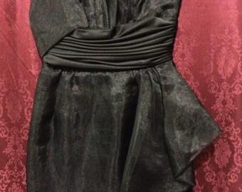 Lilli Diamond Vintage Black Evening Dress Size 4