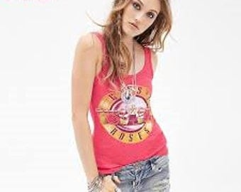 Guns and Roses Red Tank Top