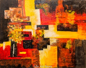 Modern contemporary abstract painting - ORIGINAL