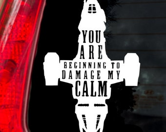 Damage My Calm Firefly Decal