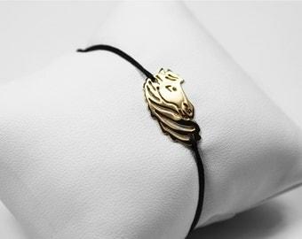Gold horse Medallion bracelet