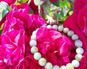 Jade and Rose Quartz Bracelet
