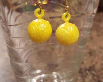 Yellow coconut earrings