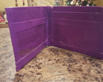 Purple duct tape wallet with ID slot