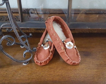 Moccasins, Leather, Suede, Slippers, Handmade, Men, Women