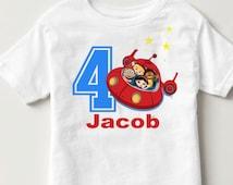 N18 Little Einsteins birthday shirt rocket