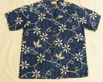 SALE/1960's  Surfer Vintage Aloha Hawaiian Shirt/Medium/