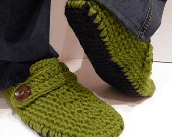Crochet slipper boots/men slippers/men slipper boots/slipper boots/crochet men slippers handmade/house shoes/crochet wool slippers