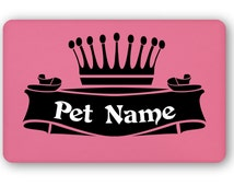 "Personalized ""Crown"" Dog Food Mat"