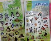 Korean My Neighbor Totoro or Studio Ghibli Sticker 1 Sheet - perfect for traveler's, weekly planner, erin condren, kikki k
