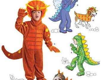 Sewing Pattern for Child Size 3 to 8 , Simplicity Pattern 1765, Halloween Costume, Matching Dog's Costume, Dragon Costume, Dinosaur Costume