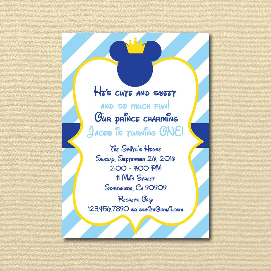 Prince Birthday Invitations for adorable invitations layout