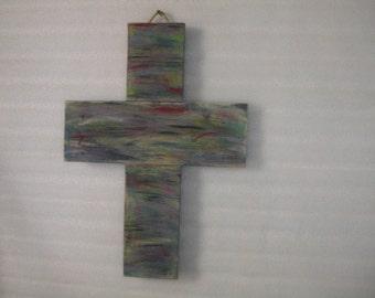 Cross, Wood Cross, Wooden Cross, Painted Cross, Rustic, Rustic Cross