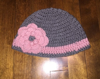 Flower crocheted hat