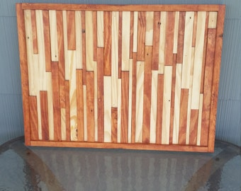 Handmade reclaimed wood modern art