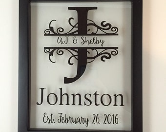 Personalized Picture Frame, Established Name Sign, Last Name Established Sign, Family Established Sign, Established, Name Sign, Name Plaque