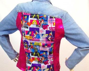 Light blue jeans jacket Theme Super Girls